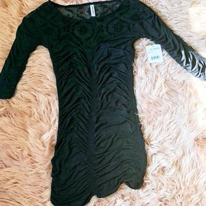 Free People Lace Cinched Body Con Dress